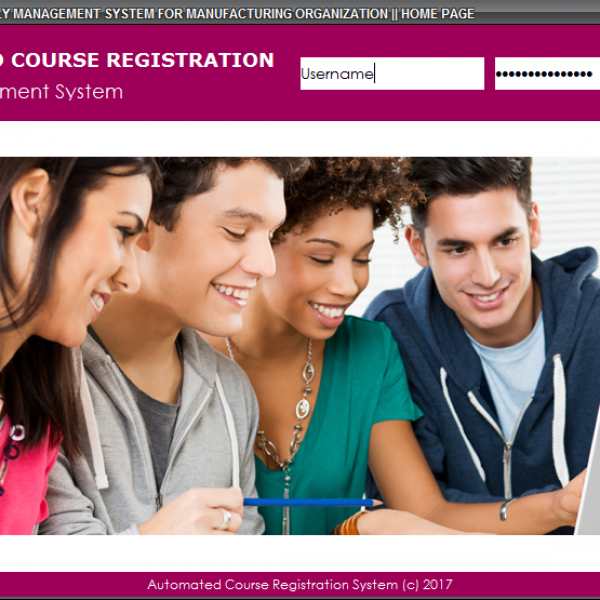 Automated Course Registration System