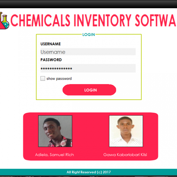 Chemicals Inventory System