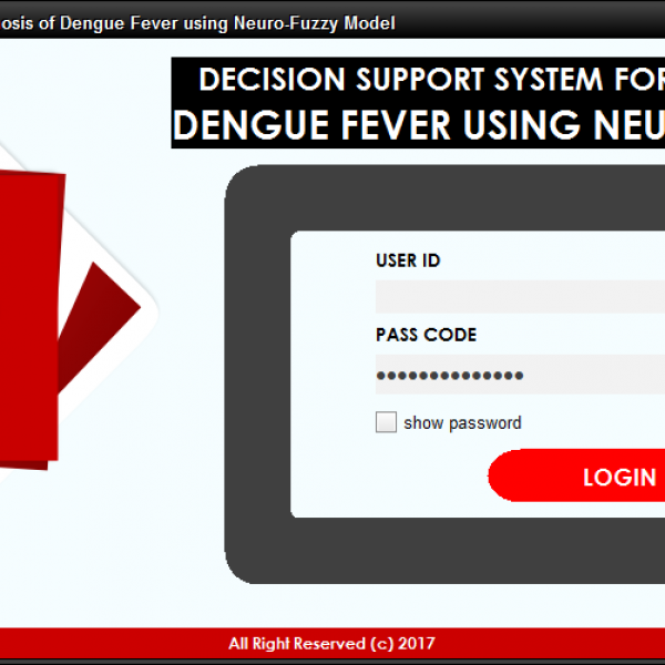 Decision Support System for the Diagnosis of Dengue Fever using Neuro-Fuzzy Model